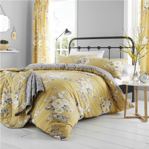 Catherine Lansfield Canterbury Ochre Bedding Set
